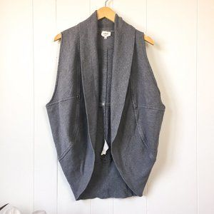 Aritzia Wilfred Cocoon Grey Vest Small